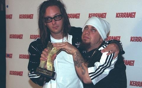 Korn at the Kerrang awards, 1997 - Credit: Richard Watt