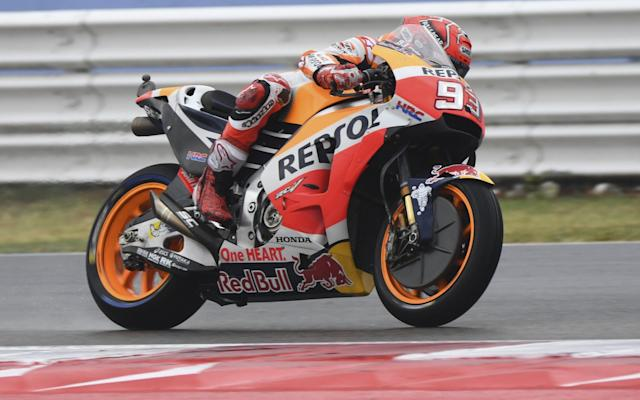 Marc Marquez is joint leader of the championship after victory at a wet Misano - Action Plus