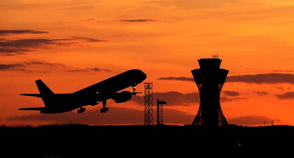 A plane leaves Newcastle Airport tonight as travellers stranded abroad by the volcanic ash cloud returned to the UK in a trickle rather than a flood as recriminations flew about the Government's handling of the crisis.