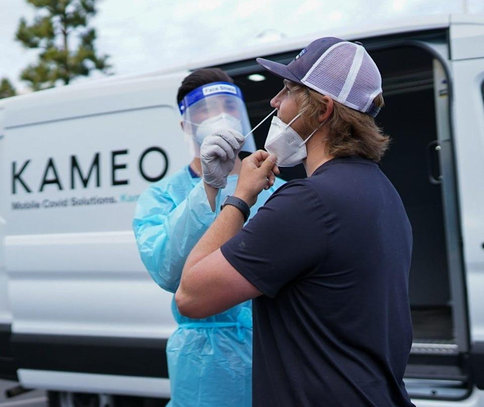 Kameo provides COVID-19 tests to film and TV productions.