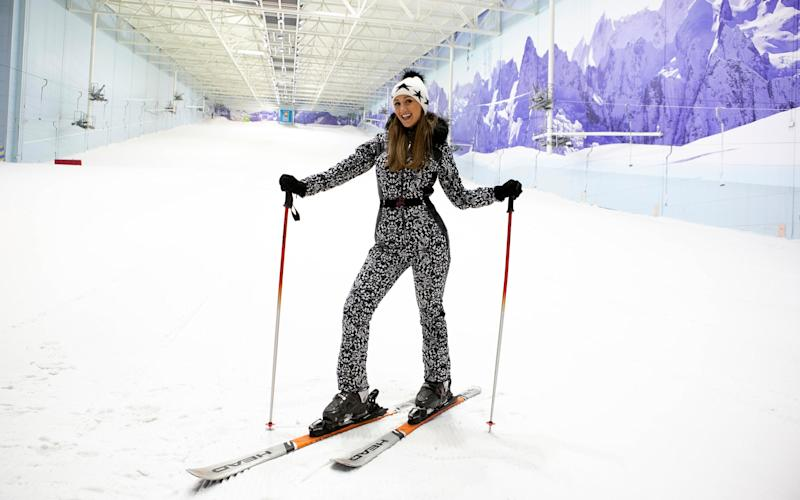 After the mastering the dance steps on Strictly can Catherine Tyldesley learn to ski in a day on the slopes of Manchester?