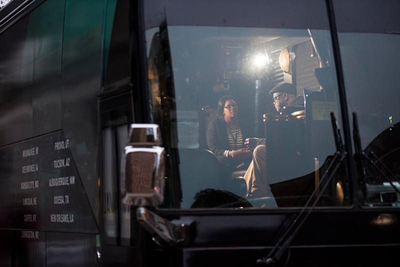 Interviews are conducted on the bus during HuffPost's visit to Milwaukee.