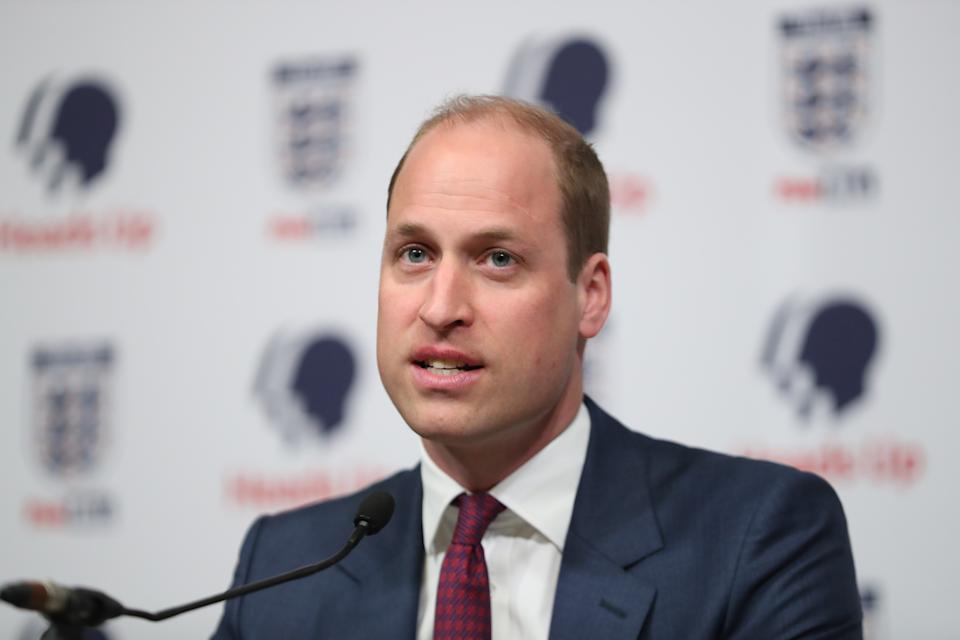 The Duke of Cambridge at the launch of a new mental health campaign at Wembley Stadium in London.
