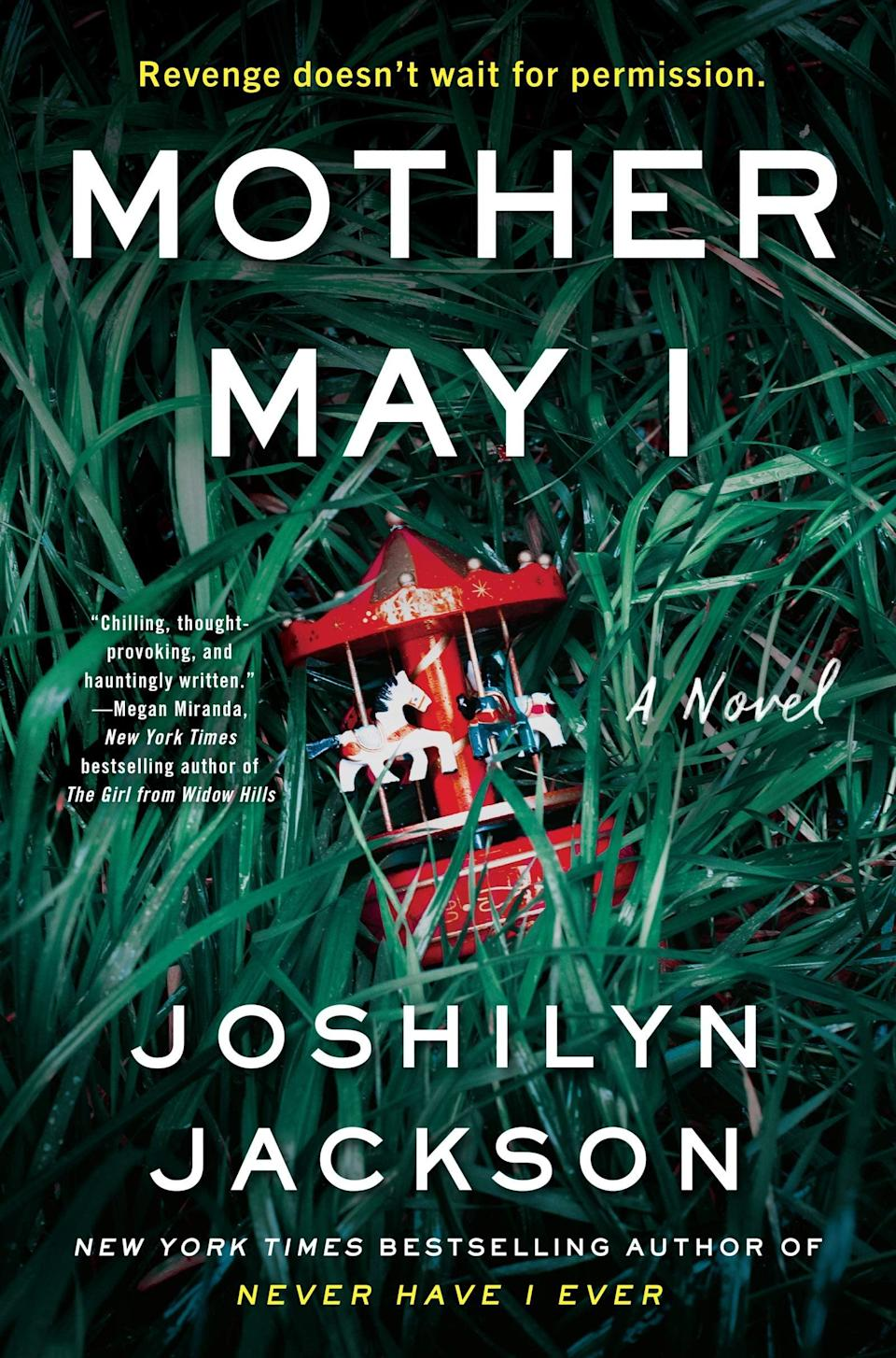 "<p><a href=""https://www.amazon.com/Mother-May-Novel-Joshilyn-Jackson/dp/0062855344"" class=""link rapid-noclick-resp"" rel=""nofollow noopener"" target=""_blank"" data-ylk=""slk:Mother May I""><strong>Mother May I</strong></a> by Joshilyn Jackson will leave you breathless. This nail-biter focuses on a mother whose baby is stolen by a mysterious woman who wants her to complete a seemingly simple task in order to get her son back. However, the situation she has found herself in is far more dangerous than she ever could have imagined. </p> <p><em>Out April 6</em></p>"