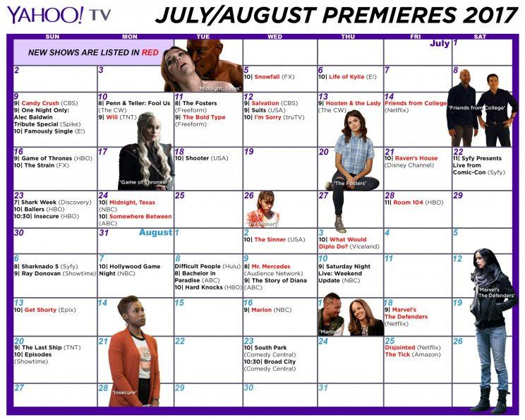 calendar here and the julyaugust calendar here and then print it out and put it next to your remote or better yet just start programming stuff now