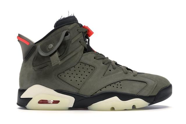The Air Jordan 6 Retro Travis Scott, a popular shoe on the platform. Photo: StockX