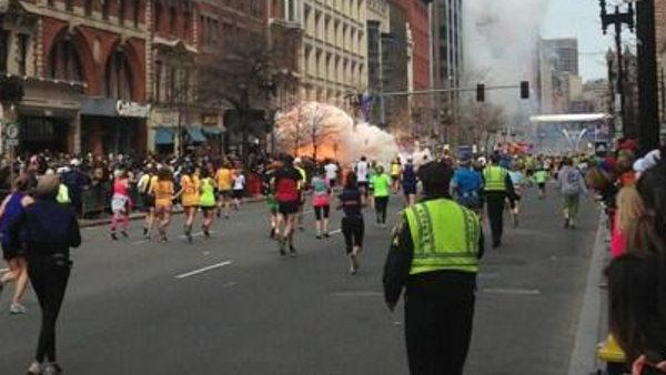 RAW footage of Boston Marathon Explosions aftermath