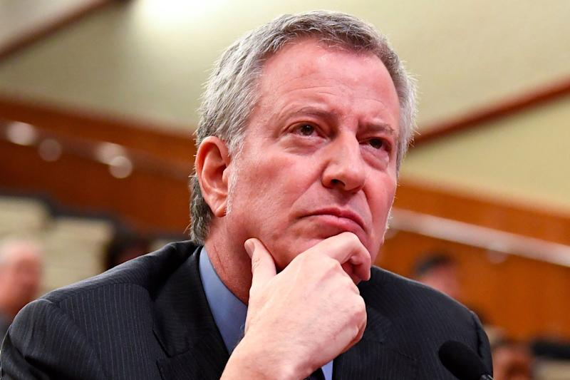 New York City Mayor Bill de Blasio testifies at a budget hearing in Albany, N.Y., in February. (Photo: AP/Hans Pennink)