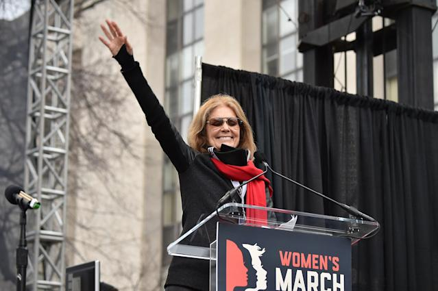 Gloria Steinem didn't say that guns vs. abortion quote that's gone viral. (Photo: Getty Images)
