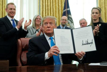 Trump orders Space Force to be established as part of Air Force