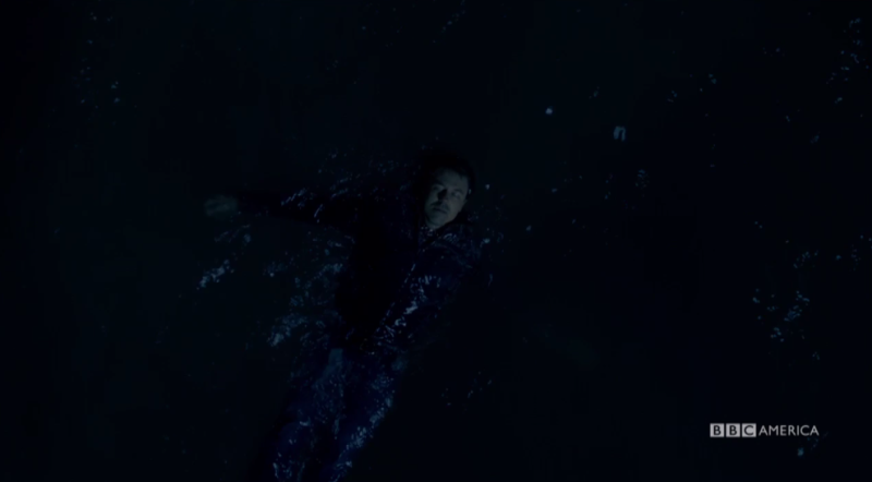 Mark floats in the water (Photo: BBC America)