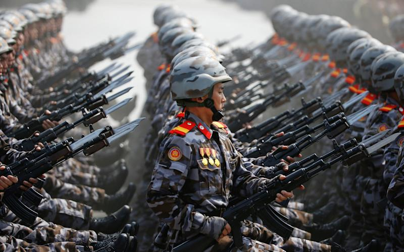 North Korean soldiers - Credit: REUTERS/Damir Sagolj