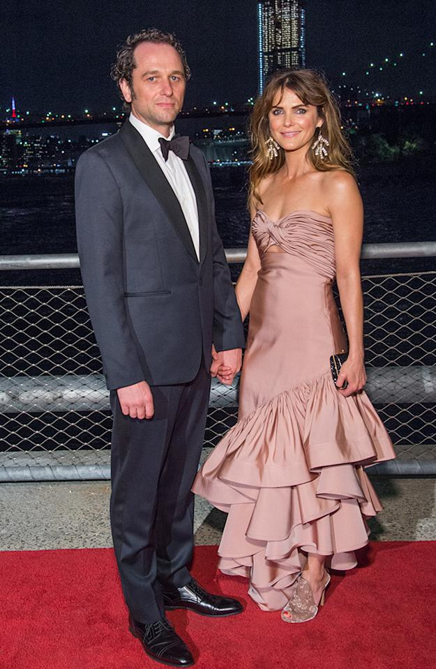 <p>The <em>Americans</em> stars and real-life loves were dashing at the Brooklyn Black Tie Ball, a fundraiser for the New York City borough they call home. (Photo: Mark Sagliocco/Getty Images) </p>