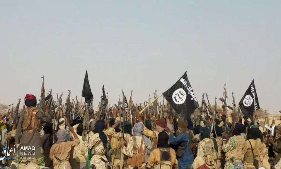 Islamic State fighters in the western Tillabéri region of Niger