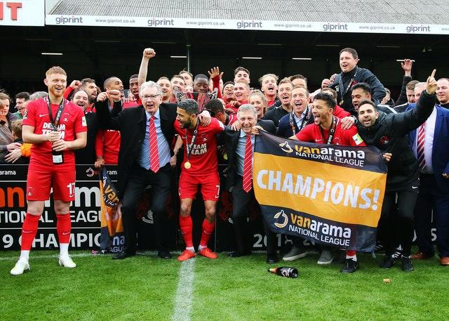Leyton Orient chairman Nigel Travis, second from left at the front, has had his say
