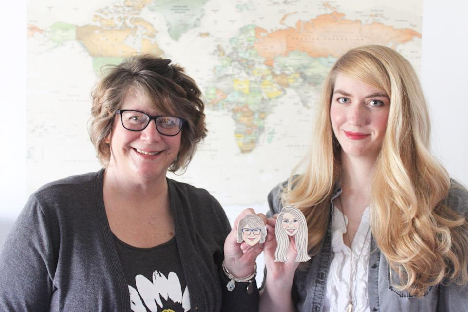 "Brittney Andrews and her mother, Regina Galliher, are the mother-daughter duo behind one of Etsy's most creative shops, <a href=""https://fave.co/32rHB58"" target=""_blank"" rel=""noopener noreferrer"">KitAtlas</a>. (Photo: Etsy )"