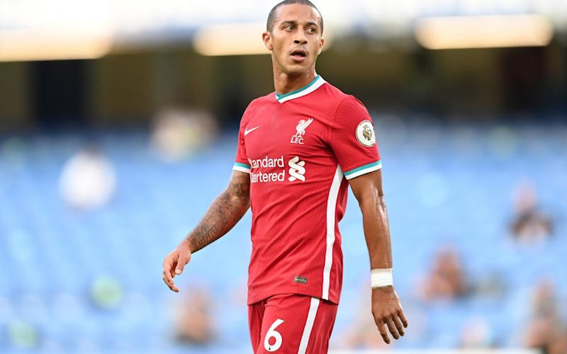 Liverpool's Thiago Alcantara is self-isolating after testing positive for coronavirus - Michael Regan/Getty Images Europe