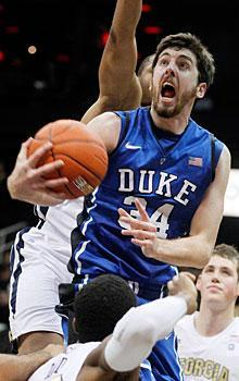 Ryan Kelly scored a career-high 21 points in Duke's win over Georgia Tech on Saturday