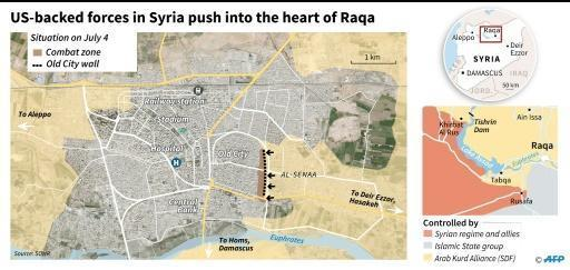 US-backed forces face fierce IS resistance in Raqa Old City