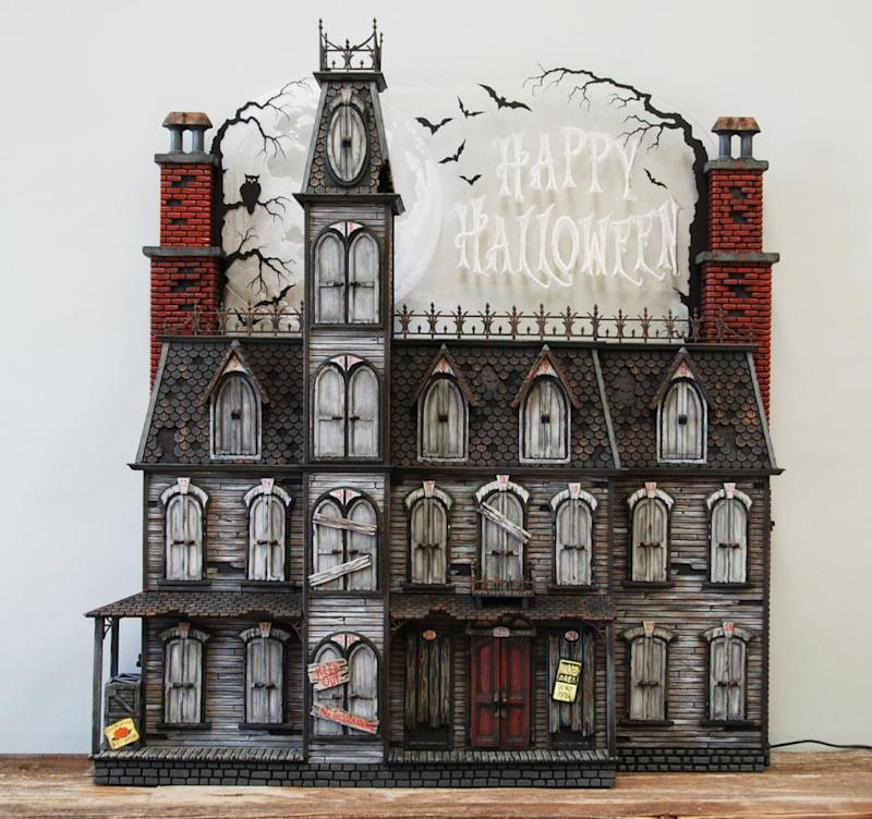 Victorian style black and grey Halloween haunted house advent calendar