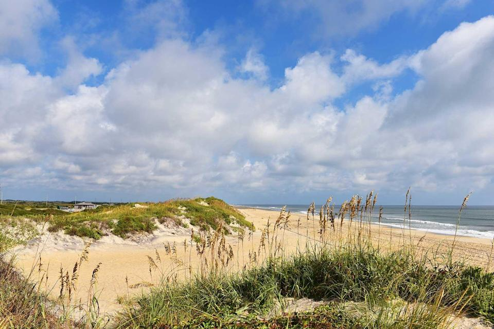 A pristine beach and dunes at Outer Banks, North Carolina