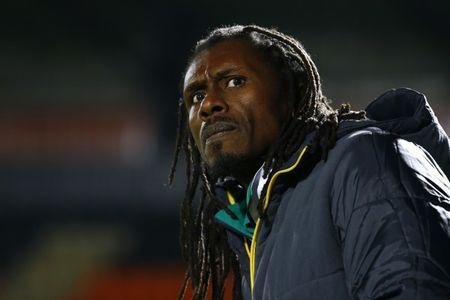 Britain Football Soccer - Nigeria v Senegal - International Friendly - The Hive, Barnet, London, England - 23/3/17 Senegal coach Aliou Cisse Action Images via Reuters / Peter Cziborra Livepic