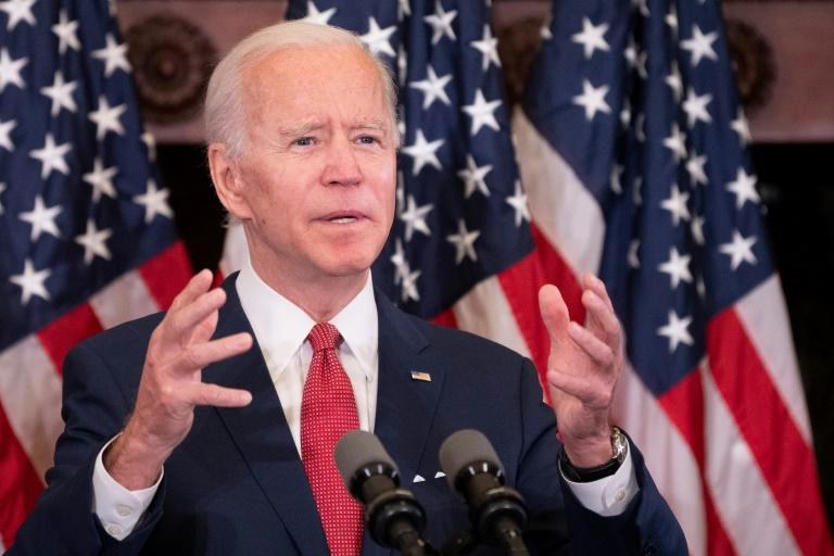 Presumptive Democratic presidential candidate Joe Biden said the US is 'crying out for leadership'
