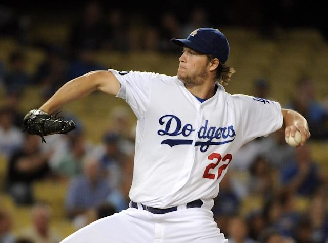 LOS ANGELES, CA - FILE: Clayton Kershaw #22 of the Los Angeles Dodgers pitches against the Arizona Diamondbacks during the first inning at Dodger Stadium on September 14, 2011 in Los Angeles, California. Clayton Kershaw was named the National League Cy Young Award winner on November 17, 2011. (Photo by Harry How/Getty Images)