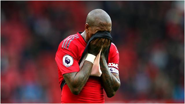 Manchester United will not play in the Champions League next season and Ashley Young acknowledged the scale of that disappointment.