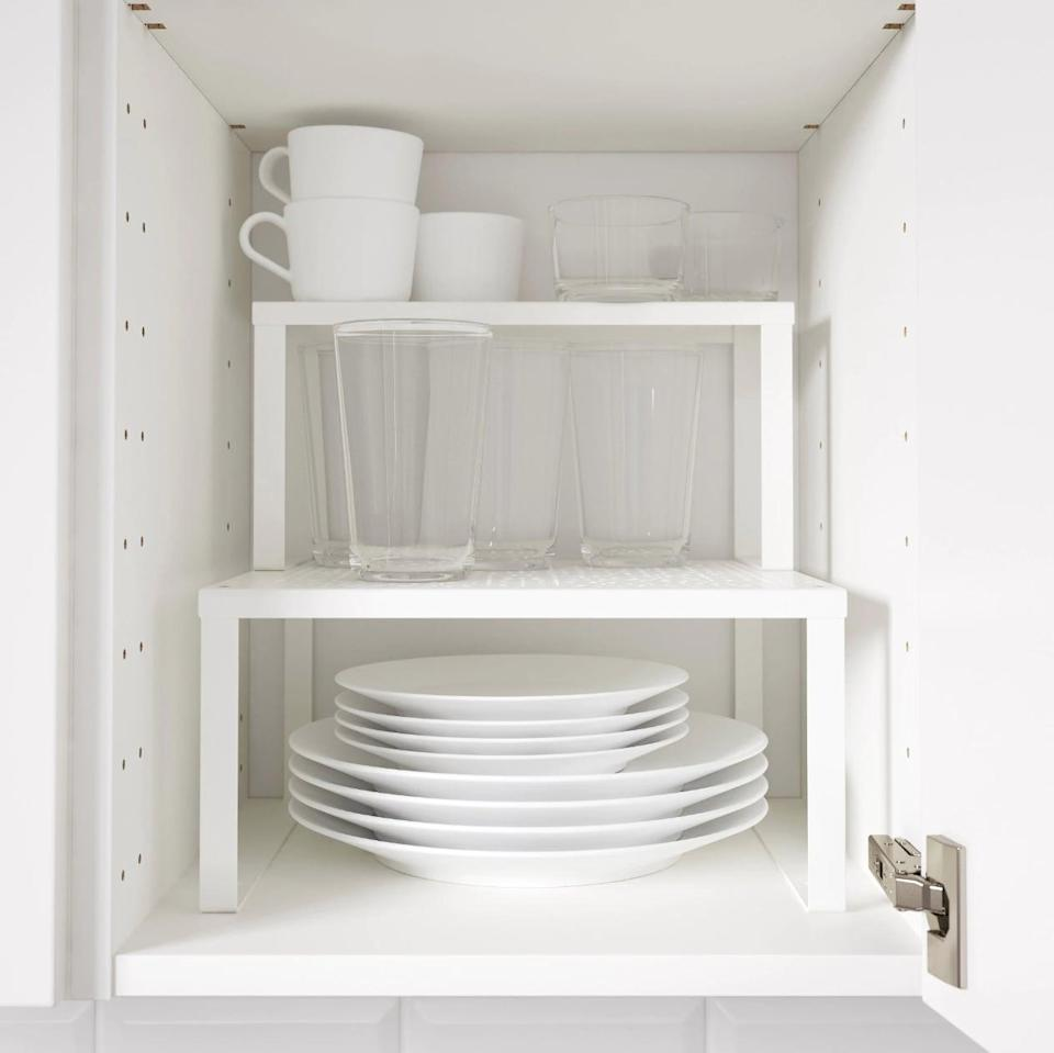 "<p>Running out of much-need cupboard space? The <a href=""https://www.popsugar.com/buy/Variera%20Shelf%20Insert-446968?p_name=Variera%20Shelf%20Insert&retailer=ikea.com&price=5&evar1=casa%3Aus&evar9=46151613&evar98=https%3A%2F%2Fwww.popsugar.com%2Fhome%2Fphoto-gallery%2F46151613%2Fimage%2F46152152%2FVariera-Shelf-Insert&list1=shopping%2Cikea%2Corganization%2Ckitchens%2Chome%20shopping&prop13=api&pdata=1"" rel=""nofollow noopener"" target=""_blank"" data-ylk=""slk:Variera Shelf Insert"" class=""link rapid-noclick-resp"">Variera Shelf Insert</a> ($5) is just what you need!</p>"