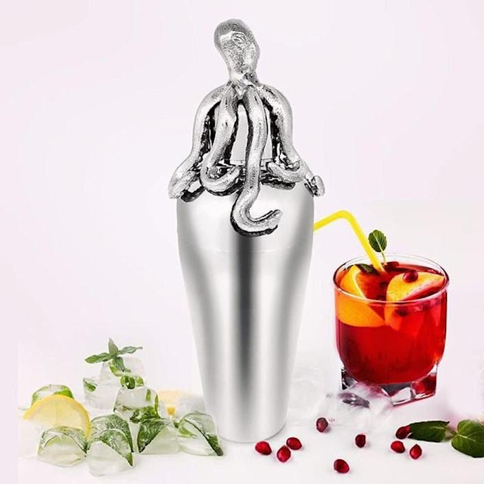 "This cocktail shaker can make margaritas and mojitos, too. And it's definitely Instagram-worthy. <a href=""https://fave.co/3bGSgw8"" rel=""nofollow noopener"" target=""_blank"" data-ylk=""slk:Find it for $45 at Etsy"" class=""link rapid-noclick-resp"">Find it for $45 at Etsy</a>."