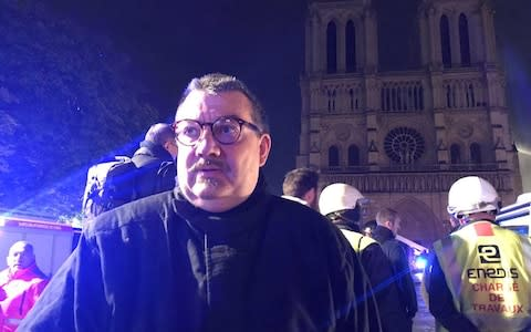 Father Jean-Marc Fournier, chaplain of the Paris Fire Brigade