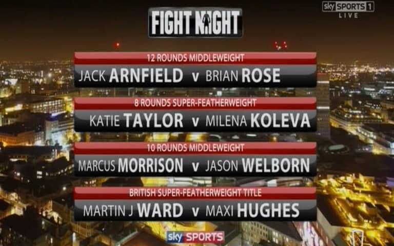 Undercard - Credit: sky sports