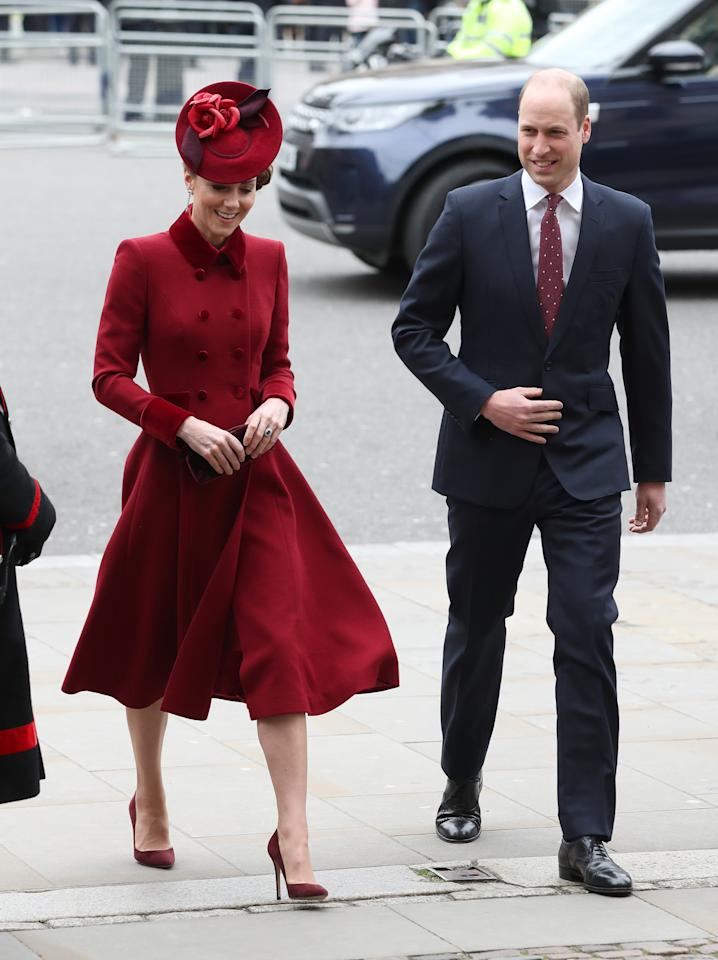 The Duke and Duchess of Cambridge arrive at the Commonwealth Service at Westminster Abbey, London on Commonwealth Day. The service is the Duke and Duchess of Sussex's final official engagement before they quit royal life.