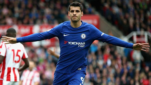 Chelsea romped to a 4-0 win over Stoke City at bet365 Stadium courtesy of a hat-trick from Alvaro Morata.