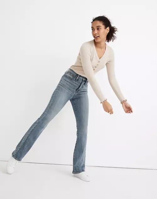 <p>Add some style to your everyday look with these <span>Madewell Skinny Flare Jeans</span> ($128).</p>