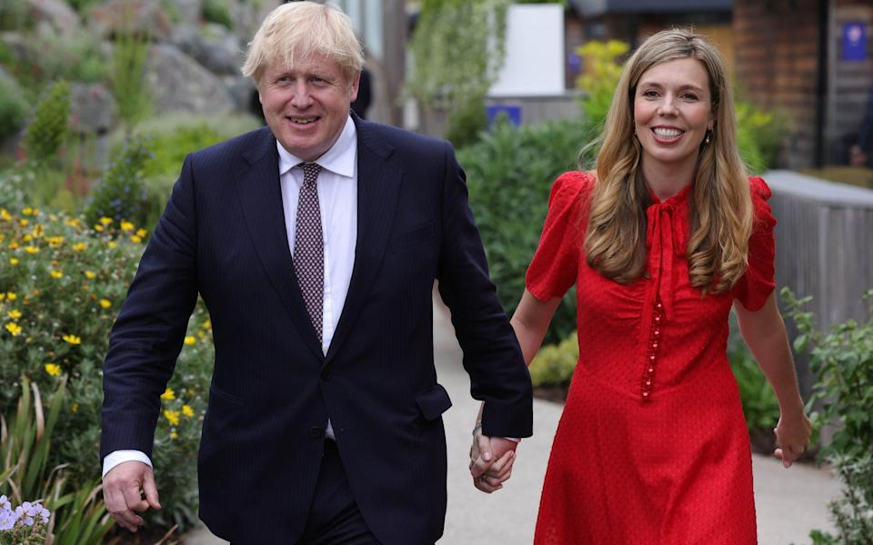 The Prime Minister Boris Johnson and his wife Carrie in June - Andrew Parsons / No 10 Downing Street