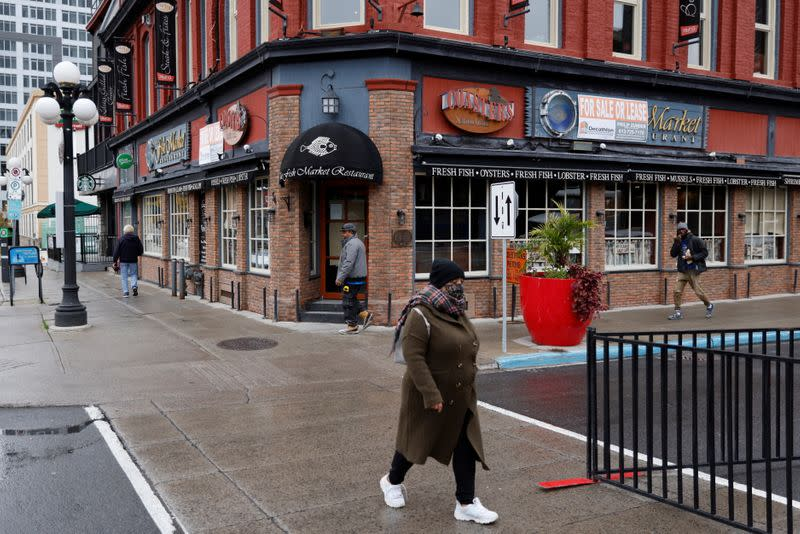 The Fish Market Restaurant in the ByWard Market is seen closed as a result of measures taken to slow the spread of the coronavirus disease (COVID-19) in Ottawa