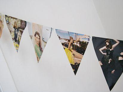 "Garlands are all the rage right now, so instead of using regular colored paper, try cutting up your favorite Chanel advertisements and putting your own twist on this home decor trend.  Photo: Pinterest/<a rel=""nofollow"" href=""http://www.pinterest.com/buzzfeedDIY/"">Buzzfeed DIY</a>"