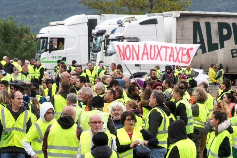 The 'yellow vests' movement erupted last month on social media with calls for blockades of roads and highways