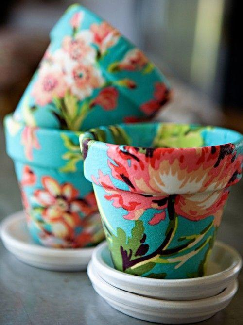 """<p>If you gifted bulbs last year, add the perfect container this time around. Floral prints on the bottom only add to the natural beauty up top. </p><p><em><a href=""""http://www.shelterness.com/how-to-decorate-terracotta-pots-using-fabric/"""" rel=""""nofollow noopener"""" target=""""_blank"""" data-ylk=""""slk:Get the tutorial at Shelterness »"""" class=""""link rapid-noclick-resp"""">Get the tutorial at Shelterness »</a></em><br></p>"""