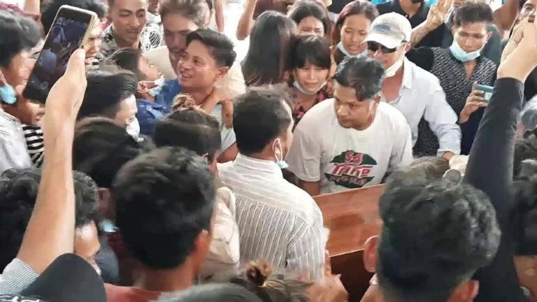 Funeral of 17-year-old shot by security forces in southern Myanmar