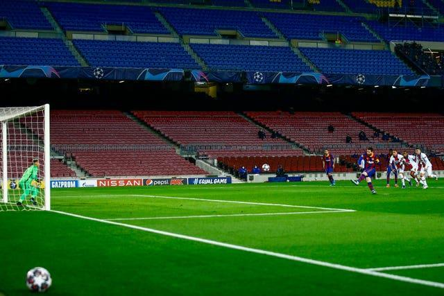Lionel Messi opened the scoring from the penalty spot