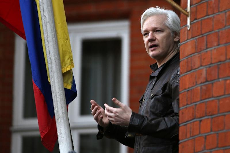 Assange is in custody in London awaiting sentencing for breaching his British bail conditions in 2012 by seeking refuge in Ecuador's London embassy (AFP Photo/Daniel LEAL-OLIVAS)