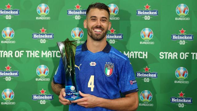Report: Italy's Spinazzola suffers torn achilles in win over Belgium