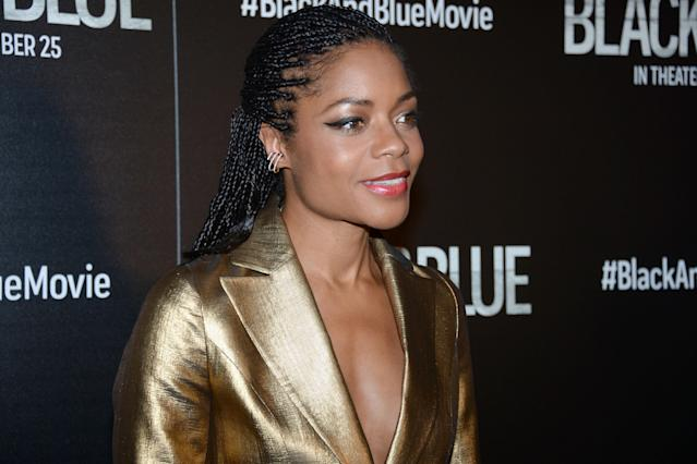 """Naomie Harris attends Screen Gems Hosts A Special Screening Of """"Black And Blue"""" at Regal E-Walk on October 21, 2019 in New York City. (Photo by Paul Bruinooge/Patrick McMullan via Getty Images)"""
