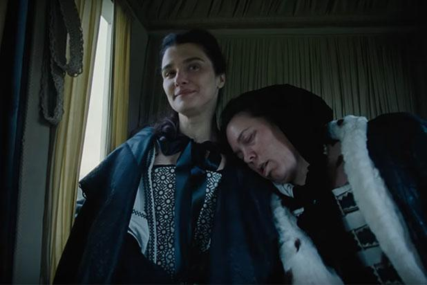 Rachel Weisz and Olivia Colman in The Favourite. (Twentieth Century Fox)