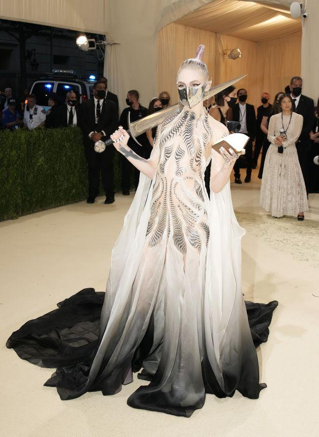 Grimes attends the 2021 Met Gala,