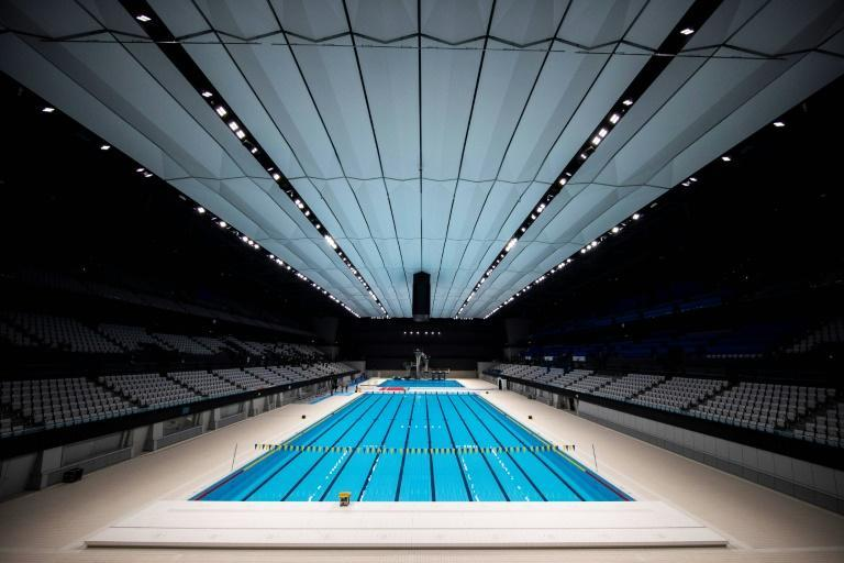 The $523 million Aquatics Centre for swimming, diving and artistic swimming was completed in February but its grand opening ceremony was postponed