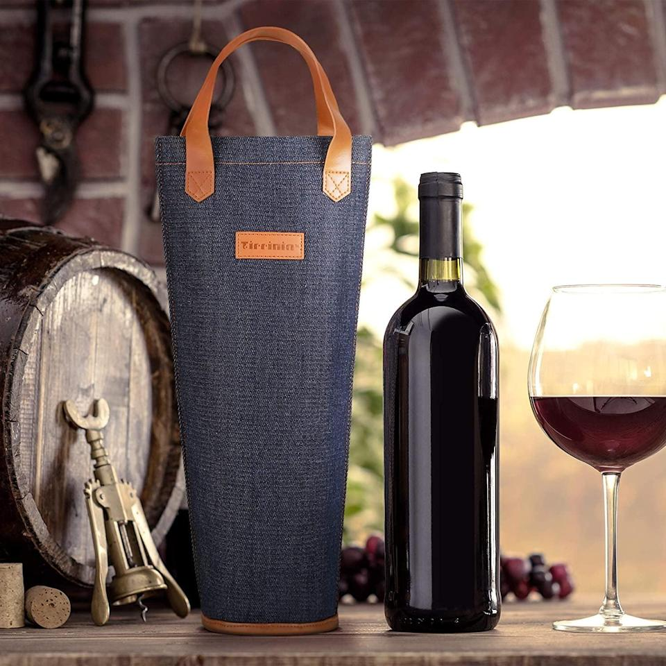 <p>They'll never have a problem carrying their wine to parties with this expensive-looking <span>Wine Tote Bag</span> ($12).</p>